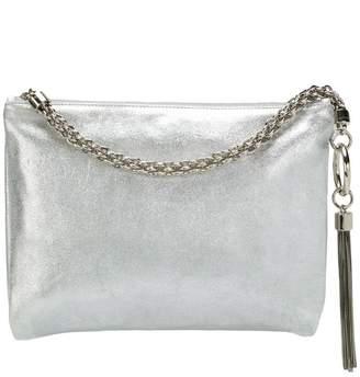 Jimmy Choo Callie metallic tassel clutch
