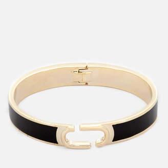 Marc Jacobs Women's Double J Enamel Hinge Cuff Bracelet - Black