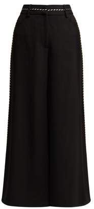 Peter Pilotto Piped Satin Culottes - Womens - Black