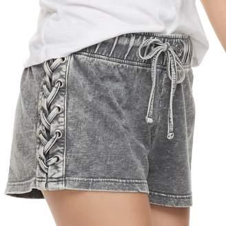 Vanilla Star Juniors' Lace-Up Shorts