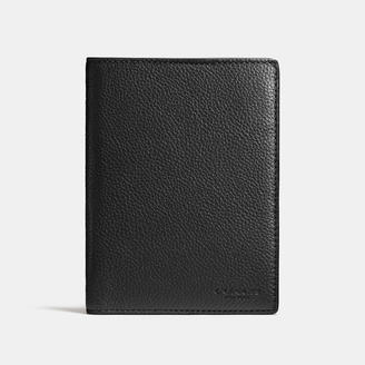 COACH Coach Passport Case In Refined Pebble Leather $125 thestylecure.com