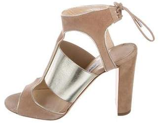 Jimmy Choo Metallic Ankle-Strap Sandals