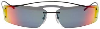 Prada Black Gradient Futuristic Sunglasses