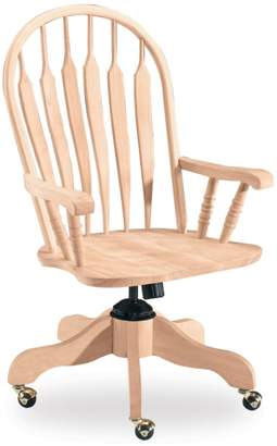 International Concepts Steambent Windsor Rolling Arm Chair
