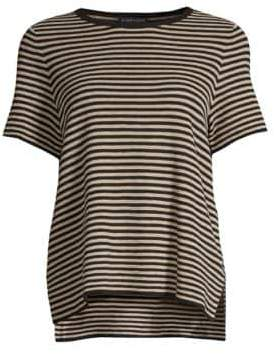 Eileen Fisher Stripe High-Low Tee