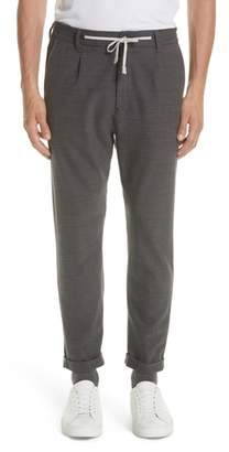 Eleventy Herringbone Stretch Wool Jogger Pants
