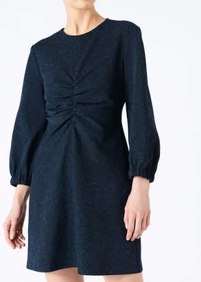 Tibi Eclipse Pique Ruched Dress