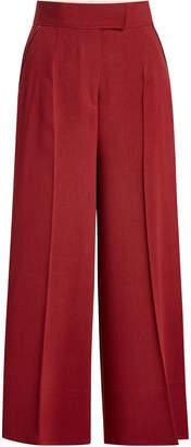 Roksanda Wide Leg Pants with Wool, Cotton and Silk