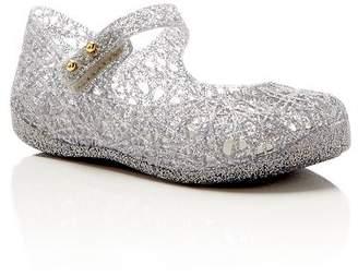 172515602707 Mini Melissa Girls  Campana Glitter Zigzag Mary Jane Flats - Walker