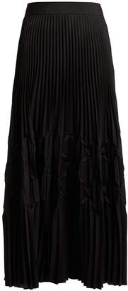 Givenchy Pleated satin midi skirt