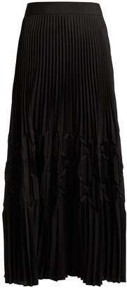 Givenchy Pleated satin midi skirt