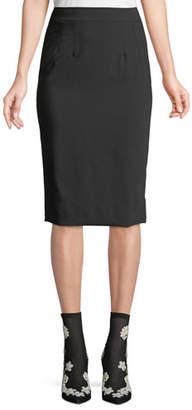 Dolce & Gabbana Classic Suiting Knee-Length Pencil Skirt