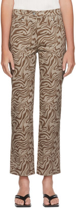 Miaou Brown Zebra Junior Jeans