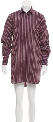 Caroline Constas Patterned Mini Shirtdress