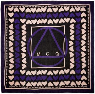 McQ Alexander Mcqueen Black Hearts Scarf $185 thestylecure.com
