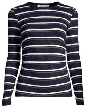 Frame Striped Ribbed Long Sleeve Pullover