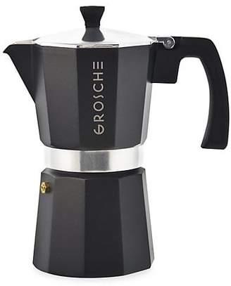 Grosche Milano Six-Cup Stove Top Espresso Maker Black