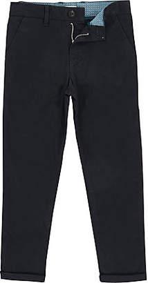River Island Boys navy Dylan slim fit chino pants