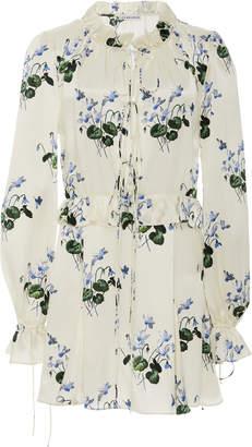 Les Rêveries Silk Ruffle Picnic Mini Dress