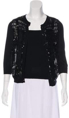 Valentino Sequin Knit Cardigan Set