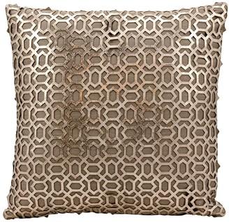 Couture Mina Victory Bias Leather Throw Pillow
