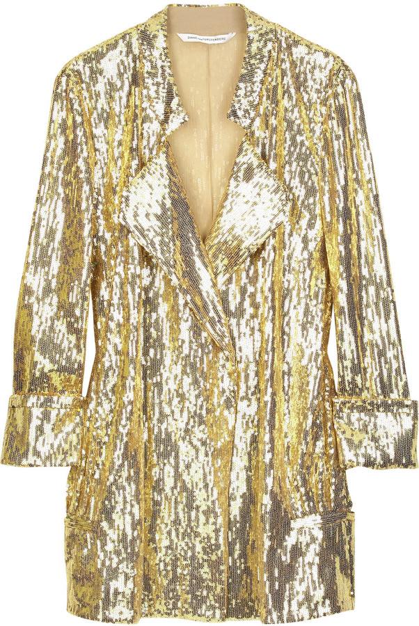 Diane von Furstenberg Chefly sequined blazer