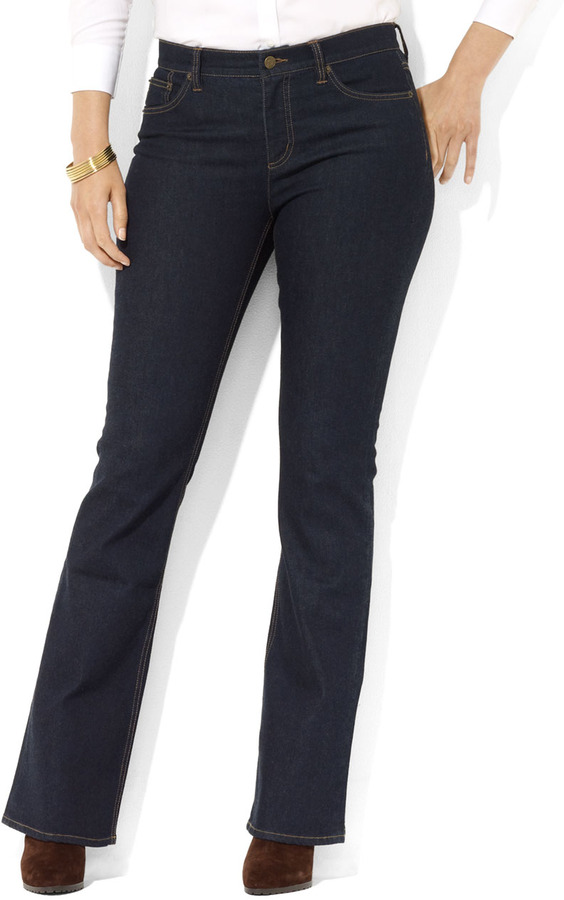 """Lauren Ralph Lauren Plus-Size 32"""" Slimming Classic Bootcut"""