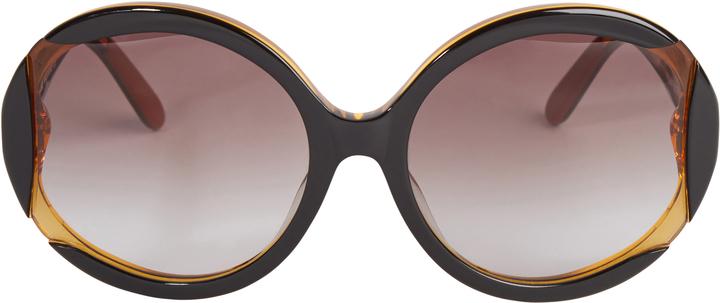 Missoni Round Cutaway Sunglasses