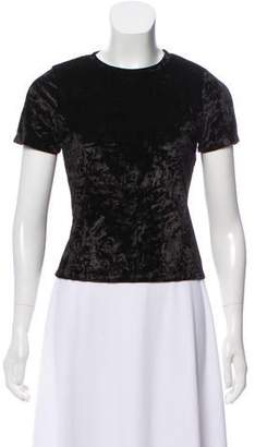 Alice + Olivia Velour Short Sleeve Top