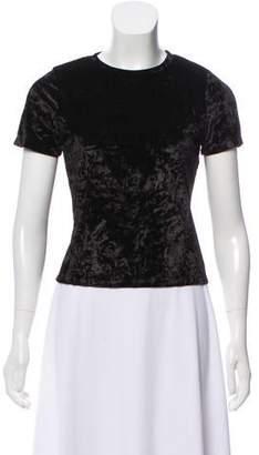 Alice + Olivia Velour Short Sleeve Top