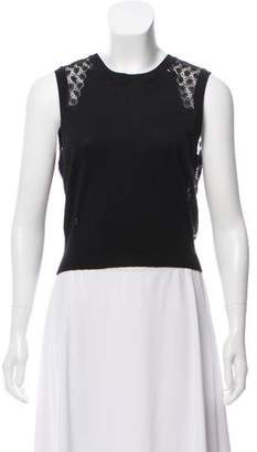 Rebecca Taylor Sleeveless Crop Sweater