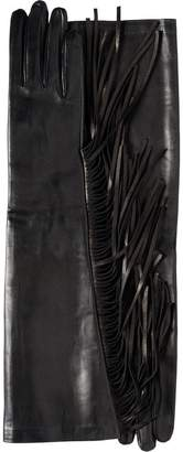 Prada Fringed Leather Gloves