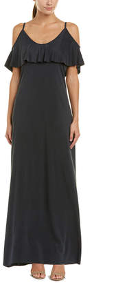 Three Dots Draped Maxi Dress