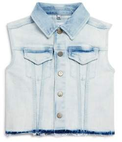 DL1961 Girls' Acid-Washed Denim Vest - Big Kid