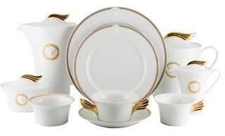 Rosenthal Meets Versace 44-Piece Medaillon Méandre d'Or Partial Dinner Set