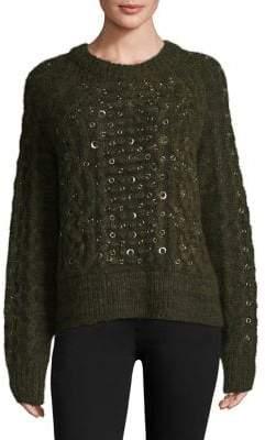 Rag & Bone Jenna Grommet Cable Sweater