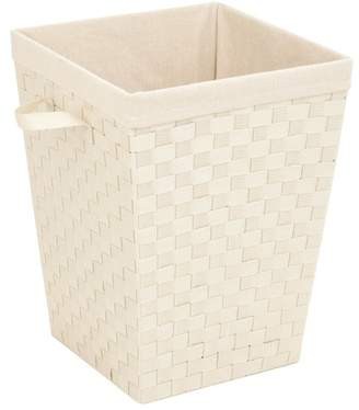 Honey-Can-Do Creme Woven Strap Hamper With Liner