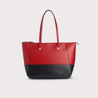 LK Bennett Marcia Red Blue Leather Tote Bag
