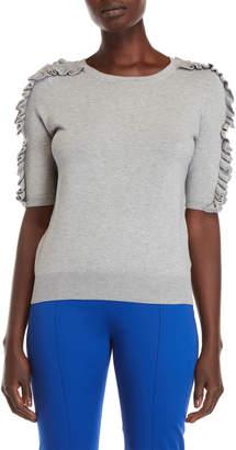philosophy Ruffled Short Sleeve Sweater