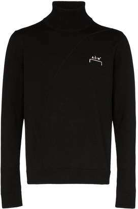 A-Cold-Wall* logo-embroidered roll-neck jumper