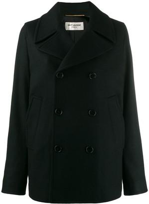 Saint Laurent double breasted pea coat