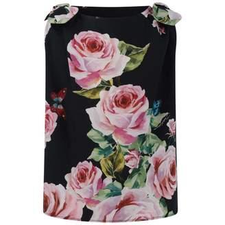 Dolce & Gabbana Dolce & GabbanaGirls Black Sleeveless Rose Top