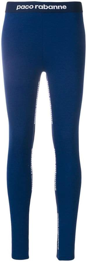 logoed compression tights