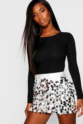 boohoo Multi Disc Sequin Mini Skirt