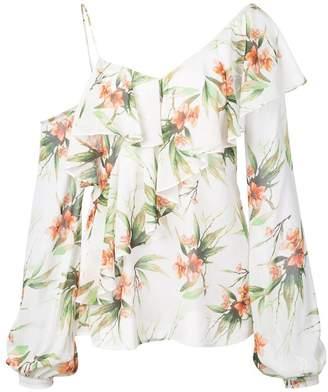 PatBO Wild Flower Cold Shoulder blouse