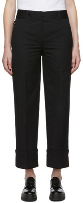 Prada Black Cotton Pocket Logo Trousers