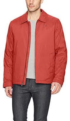 Tommy Hilfiger Men's Micro-Twill Open-Bottom Zip-Front Jacket