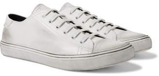 Saint Laurent Bedford Cap-Toe Distressed Leather Sneakers