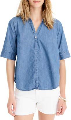 8c1ec84b61a Plus Chambray Shirt - ShopStyle