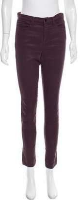 J Brand Maria Mid-Rise Skinny Leg Pants